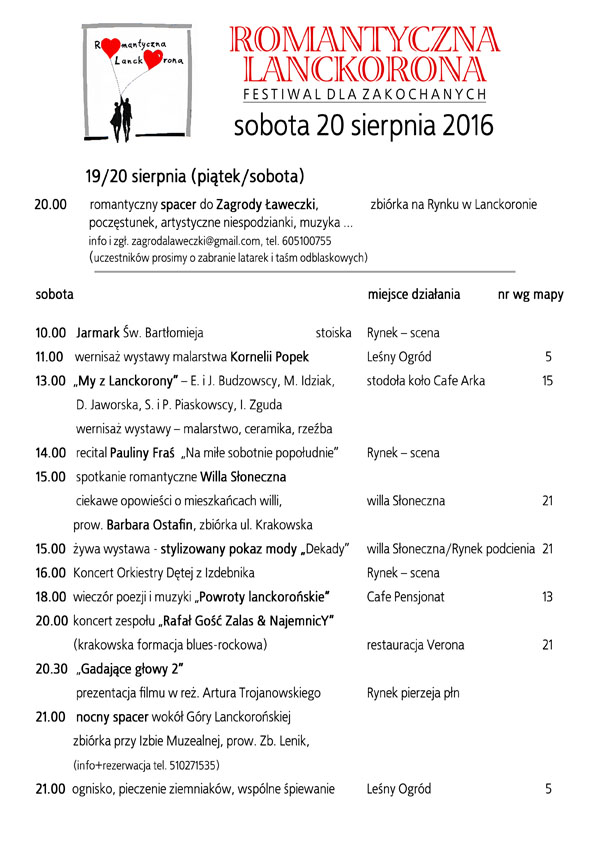 program sobota 2016