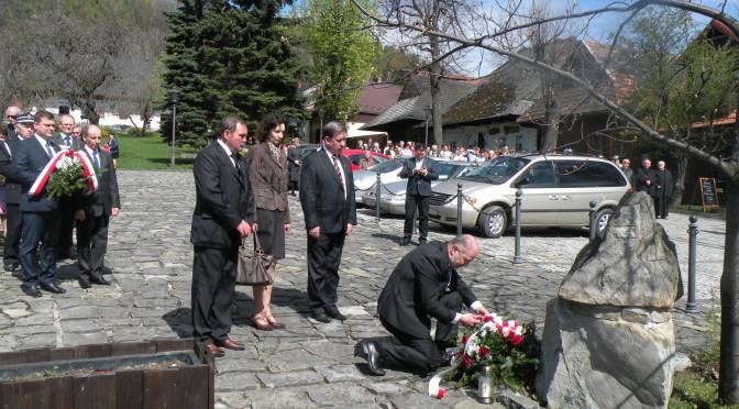 Obchody 1050-lecia Chrztu Polski i Powstania Państwa Polskiego w Lanckoronie