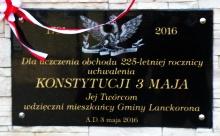 Uroczyste Obchody 225 Rocznicy Konstytucji 3 Maja w Lanckoronie.
