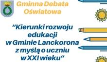 Zaproszenie na gminną debatę oświatową