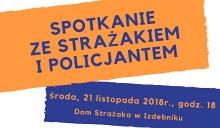 zaproszenie na spotkanie z policjantem i strażakiem w Izdebniku