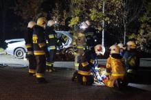 gminne ćwiczenia strażackie w Lanckoronie