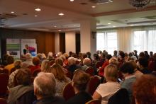 """Gminna Rada Seniorów na ogólnopolskiej konferencji """"Rady na aktywność obywatelską""""."""