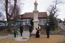 poświęcenie kapliczki św. Alojzego po kapitalnym remoncie