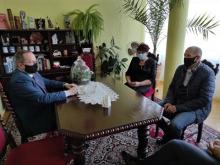 wizyta posła na sejm RP Władysława Kurowskiego w Lanckoronie