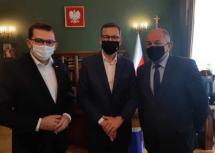 spotkanie wójta tadeusza łopaty z premierem mateuszem morawieckim