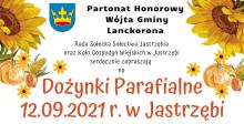 """mobilny punkt szczepień, punkt spisowy i punkt konsultacyjny Programu """"Czyste Powietrze"""" na dożynkach parafialnych w Jastrzębi"""