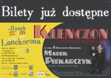 """zaproszenie na koncert na lanckorońskim rynku – """"Klenczon – poemat rockowy"""""""